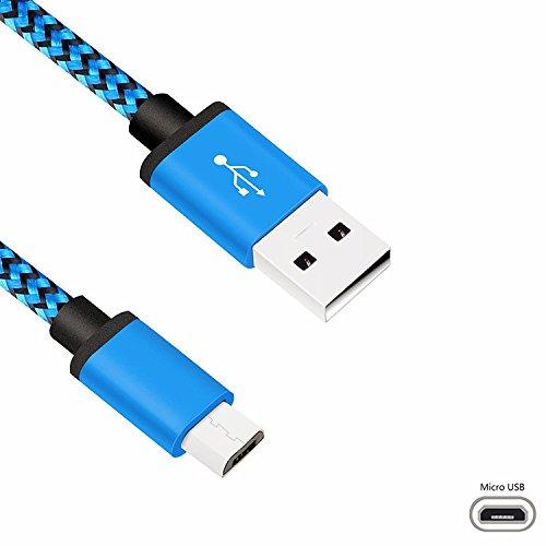 Superior Micro USB Kabel, ZRL High Speed Nylon Geflochten USB 2.0 Ein Stecker für Micro B Daten Sync Kabel für Samsung, Huawei, HTC, Motorola, Nokia, Android und Mehr
