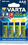 8x Varta 56703 Accu HR03 Micro AAA Ready2use Longlife 800mAh 8er-Packung