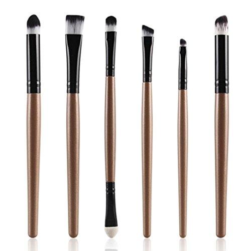Internet 6pcs Cosmétique maquillage brosse lèvres maquillage Pinceau fard à paupières Set