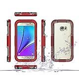 Handy schützen, Wasserdicht 2 in 1 Design-PC + TPU Fall für Samsung-Galaxie s7 / s7 Rand Samsung (Farbe : Rosa, Kompatible Modellen : Galaxy S7)