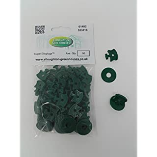 Super Elloplugs™ - 50 Greenhouse Shading and Insulation Twist Clips to hold bubble wrap and shading inside Aluminium Greenhouse Glazing bars