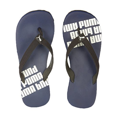 Puma Men's Issac NG DP Navy Blue and Black Flip Flops Thong Sandals - 9 UK/India (43 EU)  available at amazon for Rs.308