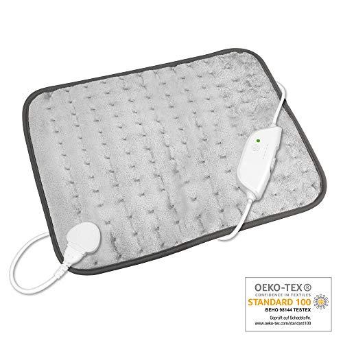 Medisana HP 650 XL Almohada eléctrica, 45 x 35 cm, almohada eléctrica dorsal con 4 niveles de temperatura...