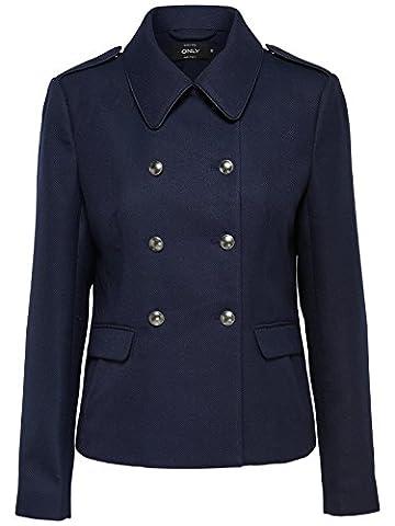 Only Damen Übergangs-Jacke OnlAya Jacket 15140951 dunkel-blau, Größe:M, Farbe:Blau