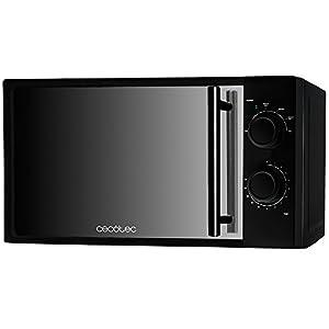 Cecotec-All-Black-Microondas-negro-con-frontal-de-espejo-input-1200-W-output-700-W-20-l-6-niveles