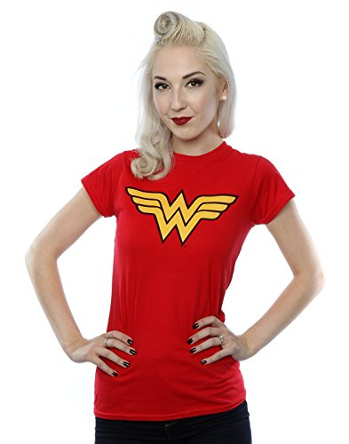 DC Comics Women's Wonder Woman Logo T-Shirt Medium Red