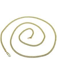 a15af4392d57 Cadena de Oro Amarillo de 18k para Hombre Tipo barbada de 3mm de Ancha y  60cm
