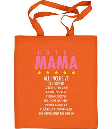 Baumwolltasche Geschenkidee Orange all Hotel Jutebeutel Mama inclusive nXqA76X0