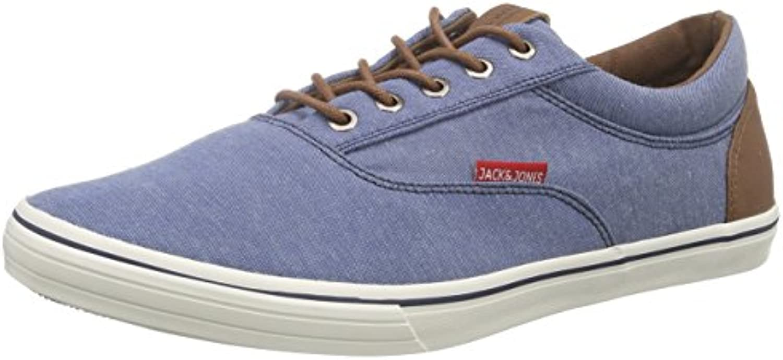 JACK  JONES Herren Jjvision Mixed Canvas Sneaker Sneakers  Blues