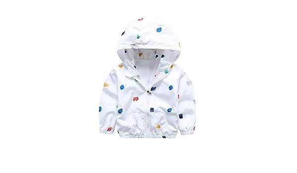 Voberry Toddler Raincoat Boys Girls Ruffled Ear Cartoon Jacket Windproof Coat Outwear Hoodies Casual Clothes