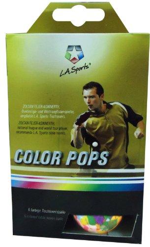 Solex Sports Tischtennis-Bälle 6er Set TT Color Pops Training bunt  Tischtennisball 35mm