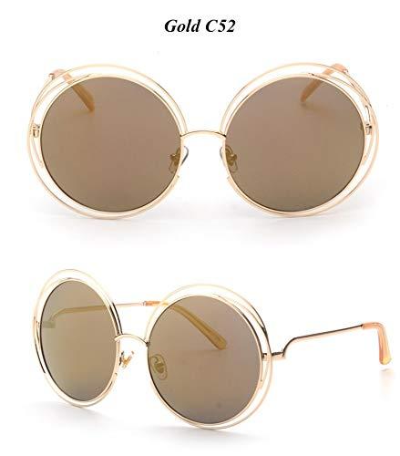 WDDYYBF Sonnenbrillen, Casual Comfort Runde Wire Frame Beschichtung Intage Fgrayion Sonnenbrille Frauen U 400 Hellbraun