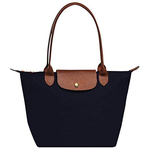 designer-nylon-tote-bag-with-genuine-leather-handles-and-flap-over-cover-black