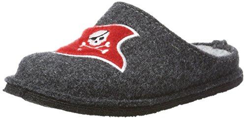 Supersoft Jungen 542 161 Pantoffeln, Grau (Dk Grey), 35 EU