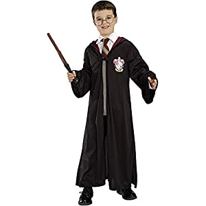 Rubie's Official Harry Potter Pack Gryffindor Robe, Wand and Glasses Child's Costume - One Size