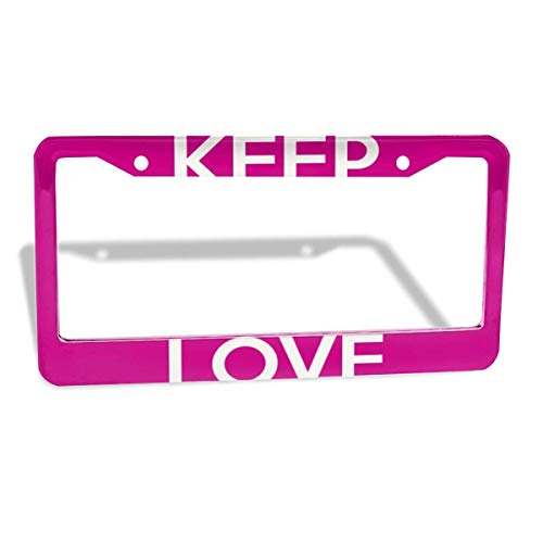 FunnyCustom License Plate Frame Love Dance Quotes Personalized Aluminum License Plate Set Metal Tag Holder 12 x 6 Inch 2 Packs - Papa License Plate Frame