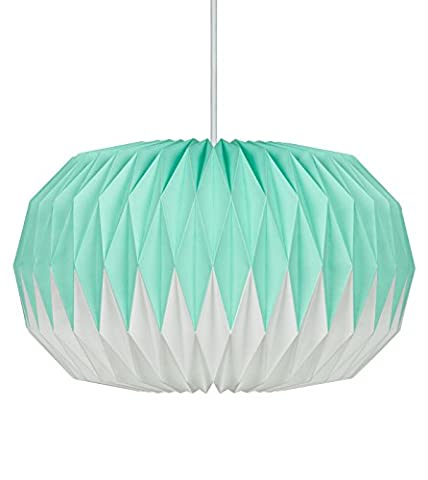 Wild Wood Paper Lampshade - Mint Green, Paper