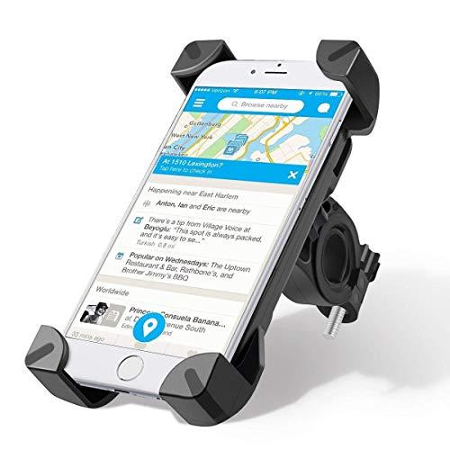 Fahrrad Handyhalterung Universal 360 Freie Rotation Mountain und Road Handyhalterung Fahrrad Bike Halterung Lenkstangenhalterung für Handys mit 3.5-7 Inch Bildschirme Motorrad Halter Wiege