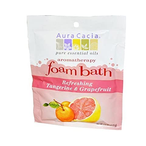 Aura Cacia Foam Bath Refeshing Tangerine and Grapefruit - 2.5 oz - Case of 6 - HSG-682419 by Aura Cacia