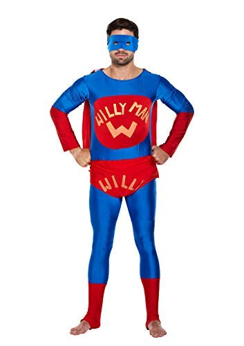 MAN WILLY FANCY DRESS OUTFIT COSTUME STAG NIGHT PARTY HEN SUPER HERO HOMMES OUTFIT