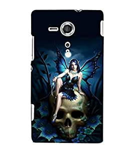 printtech Skull Gothic Fairy Back Case Cover for Sony Xperia SP::Sony Xperia SP M35h