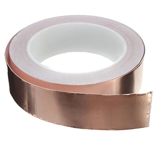 Leisial Ruban adhésif cuivre laminé pour guitare blindage EMI 20 m x 50 mm