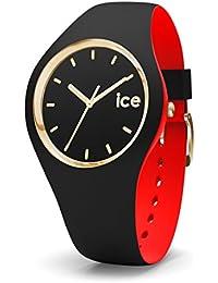 ICE-Watch - 007225 - Loulou Black Gold - Montre Femme - Cadran Noir - Bracelet Silicone Noir