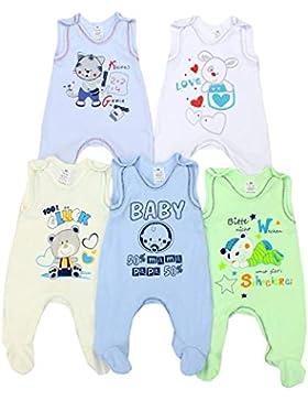 TupTam Unisex Baby Strampler mit Aufdruck Baumwolle 5er Pack