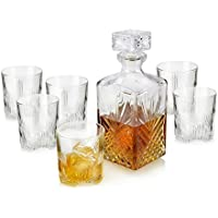 Bormioli Rocco Selecta Glass Decanter - 1000ml (35oz) & Set of 6 280ml (10oz) Glasses