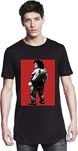 Hugo Graphic Illustration Long T-shirt Small