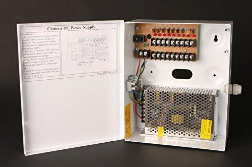haydon HAY-PSU1612-20A - 16 Way 20 AMP 12vDC Surge - Protected Boxed PSU + - PTC FUSES - Warranty: 1Y Cctv-16 Fuse