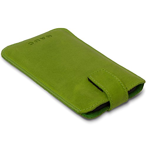 Coque de protection en cuir pour Apple iPhone 8Téléphone portable Coque de protection smartphone Pull Tab vert