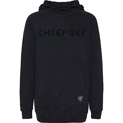 Chiemsee Herren Kapuzenpullover, mit Extra Länge Bekleidung Sweatshirt/, 997 Deep Black, XL (Extra Pullover Ärmel Lange)