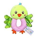 Fcostume Infant Baby Soft gefüllte Handbells Tierhandbell Rasseln Griff Spielzeug für Kinder (Gelb)