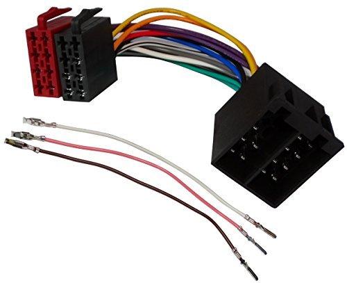 8-pin-weiblich-anschluss (Aerzetix - ISO-Konverter - Adapter - Kabel Radioadapter 20cm ISO 16 PIN-8 + 8 vorverdrahtet Anschlüsse für Lautsprecher männlich weiblich)