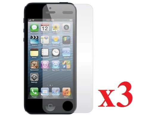 Etech iPhone 5Displayschutzfolie Ultra Crystal Clear [3er Pack] Film Cover Shield für Apple iPhone5AT & T, Verizon, Sprint, international-Klar