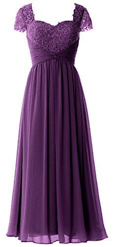 MACloth -  Vestito  - linea ad a - Maniche corte  - Donna Eggplant