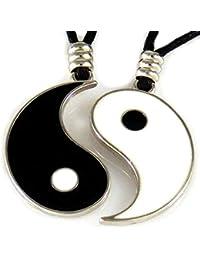 8f0c48ddc836 AKIEE Collar Yin Yang para Hombre Mujer Niños Niñas Ajustable Colgante  Taichi Collar Pareja Mejores Amigos Best…
