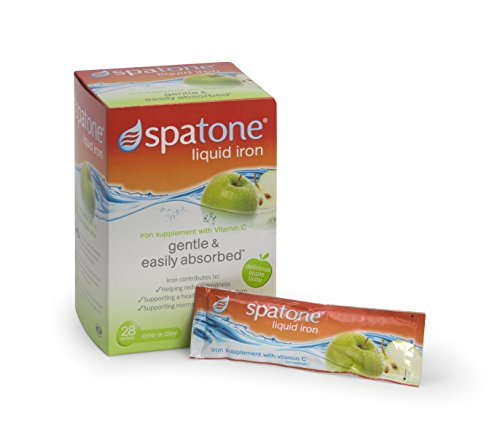 Spatone Liquid Iron Supplement with added Vitamin C and Apple Flavour - Pack of 28 Sachets Test