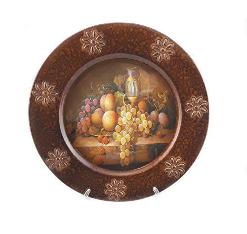 Dekorative Servierplatte mit Ständer Antik Optik Bronze Obst (Bronze-ladegerät-platten)