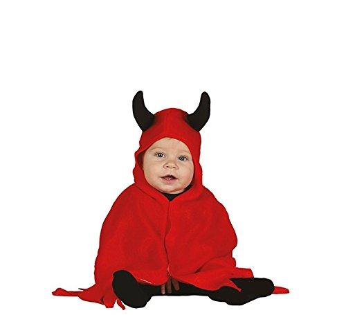 Baby Teufel - Kostüm für Kinder Karneval Fasching Devil rot Umhang Gr. 74 - 98, Größe:86/92 (Froschkönig Kostüm Baby)