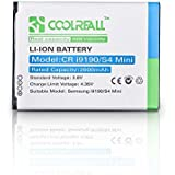 Coolreall 2600mAh Replacement Battery for Samsung Galaxy S4 Mini, i9190 (NFC Capable)