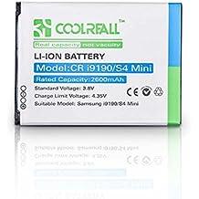 Coolreall 2600mAh Batería para Samsung Galaxy S4 Mini, i9190 con NFC