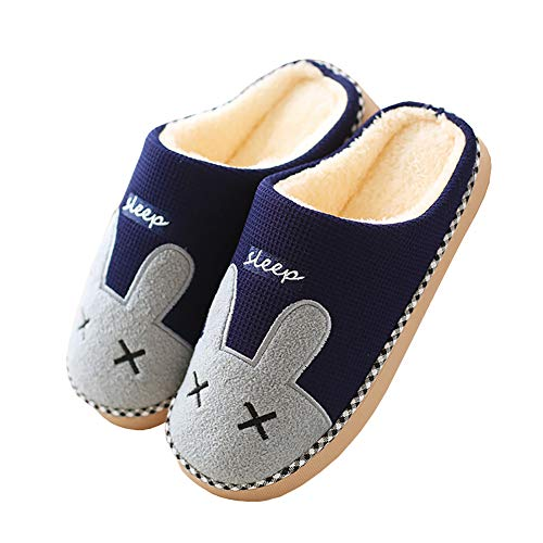 c12c02f99 Cliont Cute Cat Slippers Indoor Winter Slippers Anti-Slip Shoes for Women  and Men
