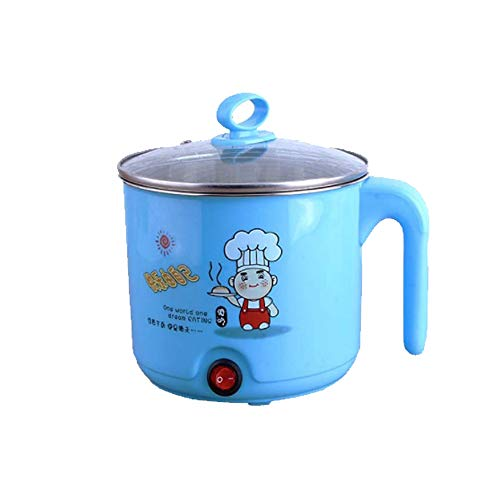 Decdeal Mini Hot Pot 1.8L Kapazität Elektro Kochtopf Rapid Noodles Cooker Edelstahl Lebensmittelqualität Elektro Pfanne