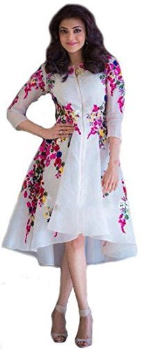 White World Women\'s Embroidery Semi Stitched White Kurti