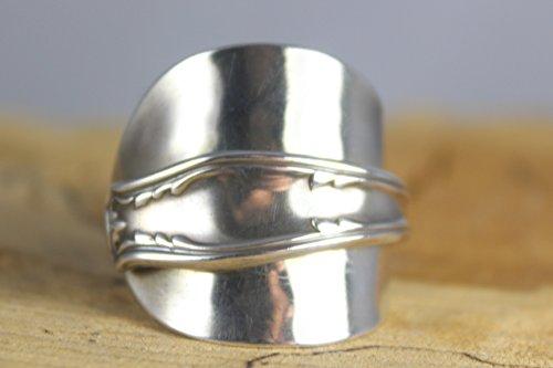 Ring 900 Sterling Silber Besteckschmuck Ring, ca. 63 (20) Ring aus Silberbesteck (Silber Sterling Löffel)
