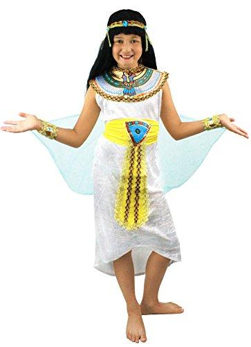 ILOVEFANCYDRESS ÄGYPTISCHES Kleid FÜR Kinder MÄDCHEN KOSTÜM VERKLEIDUNG = KÖNIGIN des Nil KLEOPATRA = SIE HABEN DIE Wahl ZWISCHEN 4 VERSCHIEDENEN GRÖSSEN PERFEKT FÜR Fasching UND Karneval = SMALL