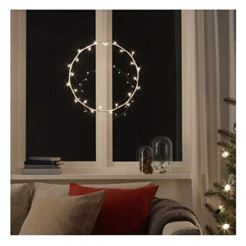 STRALA IKEA LED-Hängeleuchte ringförmig; Weihnachtsbeleuchtung; (45cm); A+