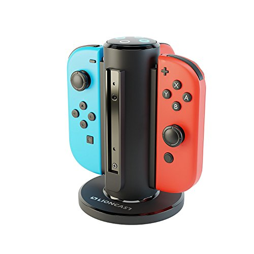 Lioncast Joy-con Base de Cargador Cuadruple para Nintendo Switch,...